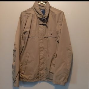 Nautica Light olive Jacket Zip Up Lined Size L